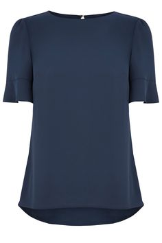 FLUTED MILLY T-SHIRT   Blue   Oasis Stores