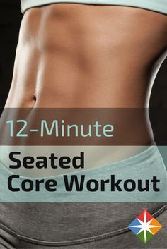 Tone your entire core, improve your posture, and increase your spinal mobility and flexibility with this quick 12-minute seated core workout! All you need is a chair!