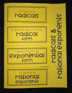 Rational Exponents Ladder Activity | Math lessons ...