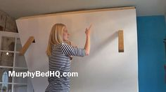 Murphy Bed - Homemade Murphy Bed With Storage http://www.murphybedhq.com/wp-content/uploads/2014/07/murphy-bed-plan.pdf