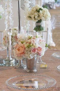 Blush Tone and Mixed Greens Wedding Tablescape Decor