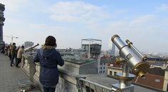 Bruxelles - Vue sur le quartier des Marolles et son ascenceur