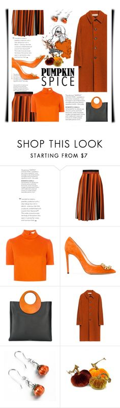 """""""Monochrome: Pumpkin Spice"""" by emcf3548 ❤ liked on Polyvore featuring Givenchy, Delpozo, Casadei, Michael Kors and pumpkinspice"""