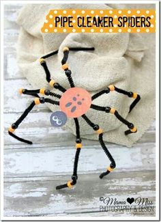 Halloween crafts...this isnt a direct link, but this a pretty simple craft. I hot glued the pipe cleaners together.