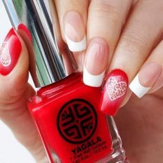 33 so-pretty nail art designs for valentine's day nails в 20 Heart Nail Designs, Pretty Nail Designs, Pink Nail Designs, Pretty Nail Art, Nails Design, Opi Nail Polish Colors, Nail Polishes, Gel Nails, Romantic Nails