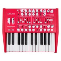 25-key All-analog Monophonic Synthesizer with a 3-waveform Oscillator, a Suboscillator, an External Input, a Noise Generator, 2 ADSR Envelopes, Assignable LFO, Aftertouch, Portamento, Steiner-Parker 2-pole Filter, and Both CV and MIDI I/O (Including MIDI over USB)