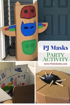 This DiY PJ Masks Headquarters is a perfect addition to your PJ Masks Party. We used this PJ Masks HQ for our party activity!