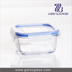 Transparent glass bowl with lid, with high quality for home using