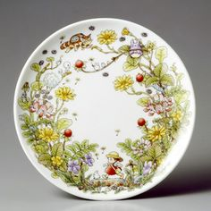 """My Neighbor Totoro """"snake and strawberry"""" 23cm plate, Noritake Special Collection (US $39.19)"""