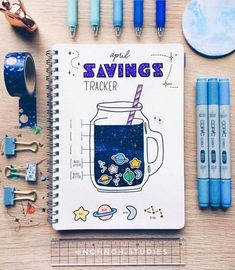 Savings tracker by ig@nohnoh.studies.   Bullet journal   Bullet journaling inspiration