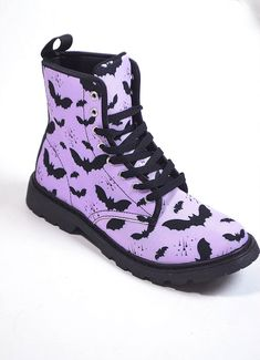 Bat Pattern Combat Boots – In Control Clothing