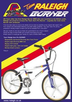 Launch of the 2007 Limited 25th Anniversary edition Raleigh Burner! :: News :: Drake's Cycles Ltd Leeds Bike Shop