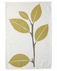 leaf design tea towel