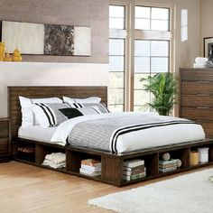Walnut Bookcase, Bookcase Bed, Bed With Bookshelves, Bed Furniture, Pallet Furniture, Furniture Plans, Furniture Outlet, Online Furniture, Furniture Making