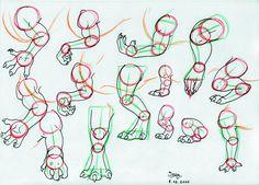 Dragon legs and arms Tutorial by *IzzyRedDragon on deviantART