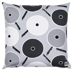 Cushion cover in pattern Play II grey by Birgitta Hahn. The Fun Collection 2014. www.tiogruppen.com.