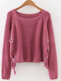 SHARE & Get it FREE | Grommet Lace Up Raglan Sleeve JumperFor Fashion Lovers only:80,000+ Items • New Arrivals Daily Join Zaful: Get YOUR $50 NOW!