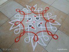 Rangoli CHIKKU BIRD 1-9-1straight line | m.iKolam.com
