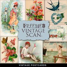 New Freebies Kit - Vintage Postcards