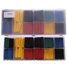 Teenitor 280 Pcs Assorted Heat Shrink Tube 5 Colors 8 Sizes Tubing Wrap Sleeve Set Combo