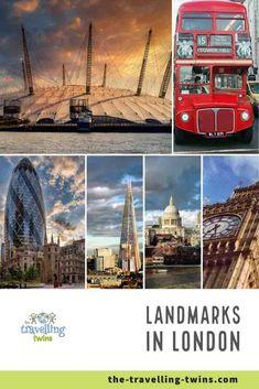 Landmarks in London - 18 Most Famous London Landmarks London Bridge, Tower Of London, London City, London Landmarks, Famous Landmarks, Millennium Bridge, Travel General, Big Ben London, Island Nations