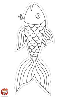 Free printable for kids poissons d 39 avril enfants - Tfou coloriage ...