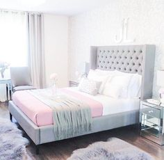 Grey and blue themed bedroom grey blue and decor bedroom ideas purple gray master light blue and grey bedroom decor Grey Bedroom Decor, Decoration Bedroom, Bedroom Themes, Home Bedroom, Bedroom Ideas, Teen Bedroom, Master Bedrooms, Bedroom Furniture, Bedroom Designs