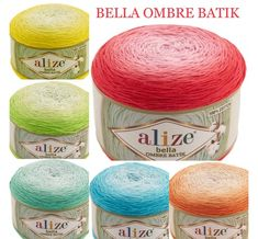 Alize BELLA OMBRE BATIK Yarn 250 gr 100 Organic Cotton Yarn knitting yarn, Crochet vegan yarn Soft Gradient yarn Summer Baby amigurumi yarn Crochet Needles, Knitting Needles, Crochet Yarn, Knitting Yarn, Baby Knitting, Yarn Flowers, Organic Cotton Yarn, Rainbow Crochet, Yarn Shop