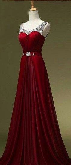 Vintage red evening gown formal