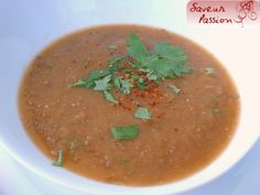 Soupe d'aubergine comme un zaalouk - SAVEUR PASSION