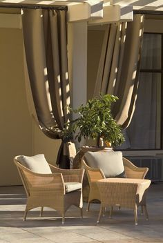 How To Use Painter Tarps As Outdoor Drapes | Outdoor Drapes, Patios And  Patio Makeover