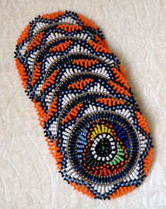 African beaded coasters