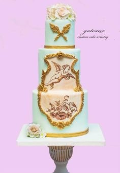 You have to see Roccoco style Cupid cake by Yvonne Janowski!