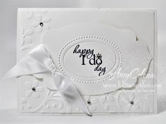 It's a nice day for a white wedding... (now I have that stuck in my head)... click for the details on how to make this card!