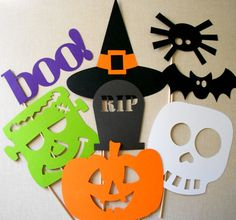 Halloween Photo Props Halloween Photo Booth by ThePropMarket, $22.00
