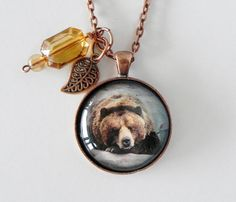 Women's Hunting Jewelry Gifts Bear Necklace by HoovesHornsWingsPaws on Etsy