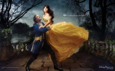 Disney Dream Portrait Series: Beauty and the Beast: Penélope Cruz as Belle and Jeff Bridges as the Beast | by Annie Leibovitz