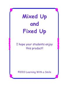 This cute little activity packet gives children lots of practice with sentence structure.  In this cut and paste packet, the students will cut out the words at the bottom of the page, unscramble the words by putting them in the correct order to form a sentence, and paste them in the boxes provided.