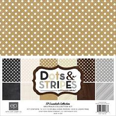 Echo Park Collection Kit 12in.X12in. Neutrals Dots & Stripes