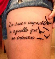 tatuaje en español