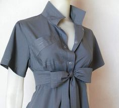 I'd change the length of the sash endings, but a nice shirt dress.  That bosom pocket might be awkward for bigger-breasted ladies.