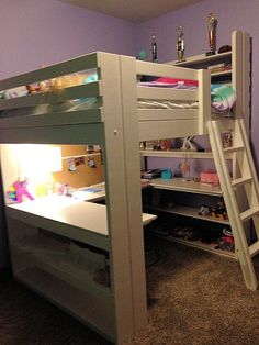 Workstation loft bed finished by the customer.