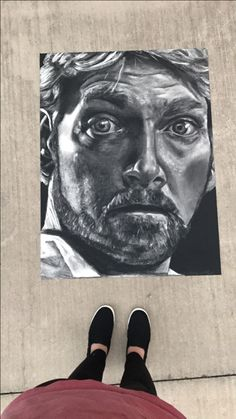 Kenneth Subtractive Drawing with Charcoal