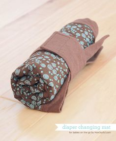 Waterproof quilted diaper changing mat tutorial - How Joyful
