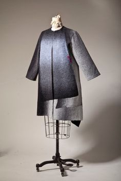 Mina Norton will be sending her one-of-a-kind boiled wool coats and jackets and fitted chenille sweaters to Omaha for your holiday viewing and shopping pleasure.  November 25 - 29, 2016. Mina is from Iran, lives in New York City and has had pieces in previous Wearable Art shows. Boiled Wool Coat, Wool Coats, Textile Artists, Community Art, Felting, Wearable Art, Iran, November, York