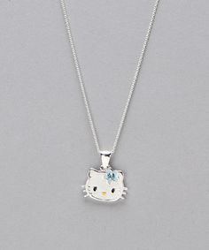 Take a look at this Sterling Silver December Birthstone Necklace by Hello Kitty on #zulily today!