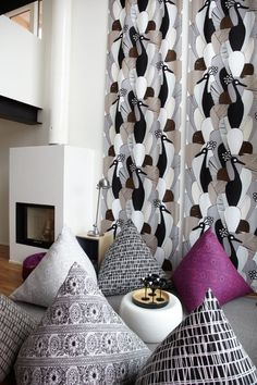 Finlayson Textiles, Pattern Design, Curtains, Shower, Modern, Prints, Patterns, Home Decor, Rain Shower Heads