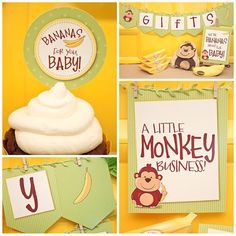 MONKEYING AROUND Baby Shower Collection  by piggybankparties, $20.00