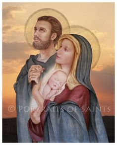 The Holy Family, St. Joseph, Virgin Mary and Infant Jesus 8x10 Catholic Print