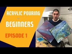 Acrylic Pouring for Beginners - Episode 1 - History and Science - YouTube Glass Cylinder Vases, Fluid Acrylics, Acrylic Pouring, Acrylic Paintings, Projects To Try, Science, History, Learning, Youtube